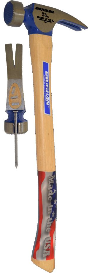 CF1HC  23 oz Milled Face California Framing Hammer With Curved Handle 10304