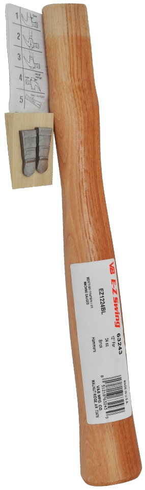 63243 E-Z Swing 12'' Hickory Handle - 24 OZ Bricklayer Hammer 63243