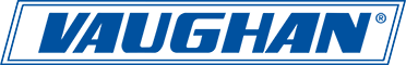 Blue and White Brand Logo of Vaughan Manufacturing